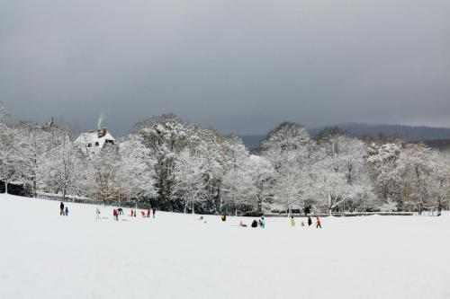 Bermain salju, Kronberg, Jerman