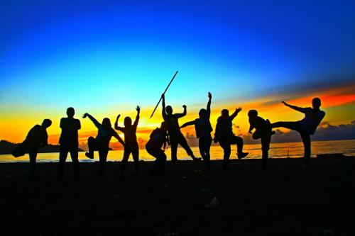 Memanfaatkan momen sunset